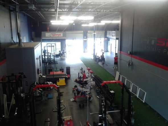 Overhead view of the FitSpeed facility